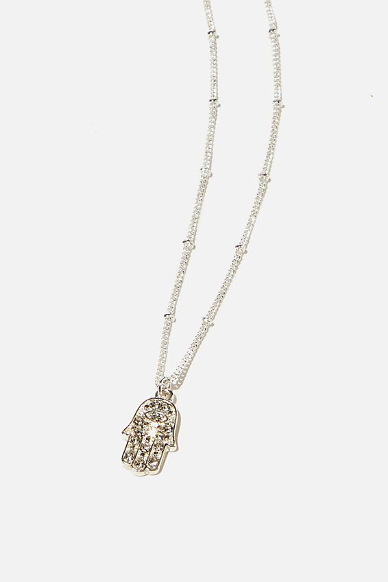Brighter Days Pendant Necklace, CRYSTAL HAMSA