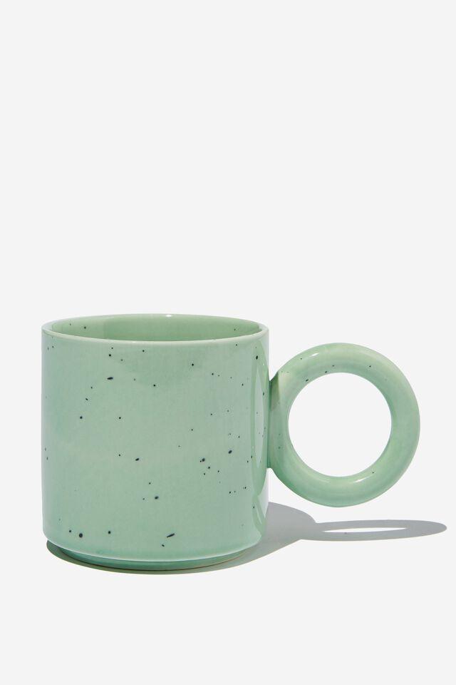 Oversized Handle Mug, DUSTY MINT