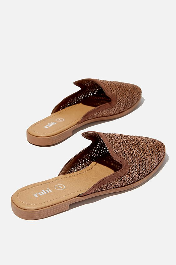 Shade Raffia Mule, CHOCOLATE
