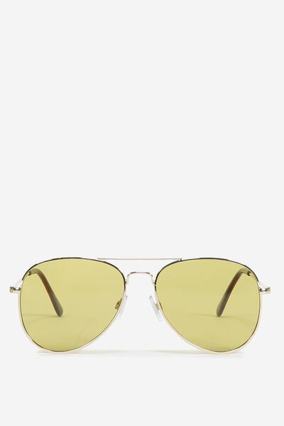 Arabella Metal Sunglasses, GOLD/GOLD