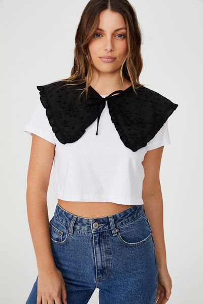Piper Large Collar, BLACK BROIDERIE
