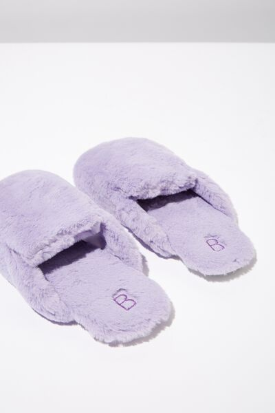 Poppy Slipper Scuff, LILAC BREEZE