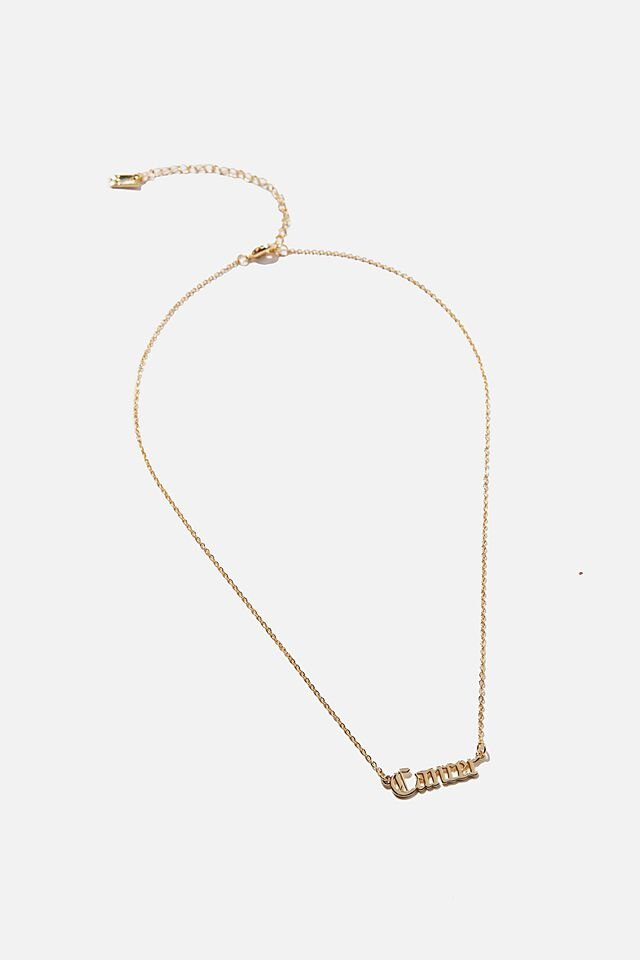 Premium Pendant Necklace, GOLD PLATED CANCER