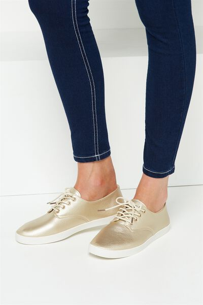 Celeste Lace Up Hybrid, SOFT GOLD PU