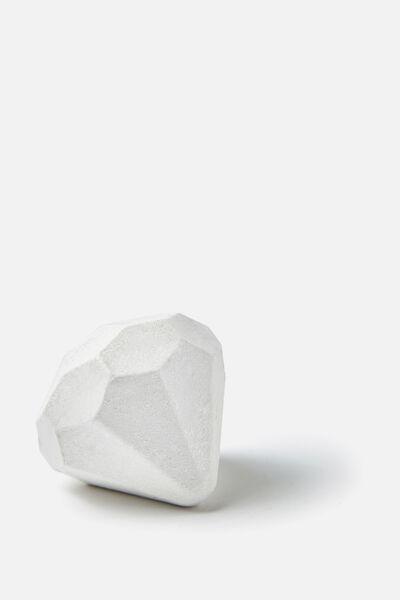Bath Fizzer, WHITE SHIMMER DIAMOND