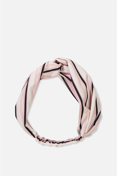 Manhattan Headband, PINK RETRO STRIPE
