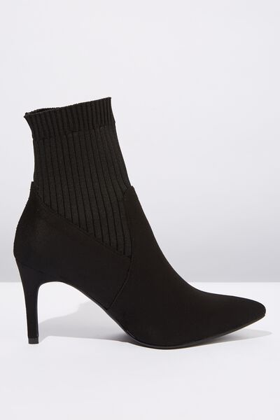 Cindy Sock Boot, BLACK
