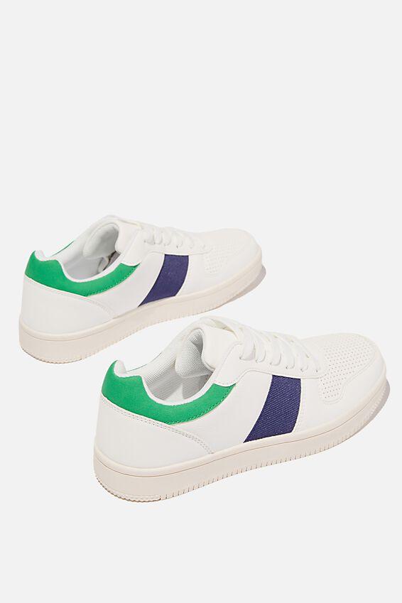 Alba Retro Low Rise, WHITE GREEN NAVY