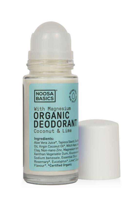 Noosa Basics Deodorant Roll On Sensitive Skin, COCONUT AND LIME