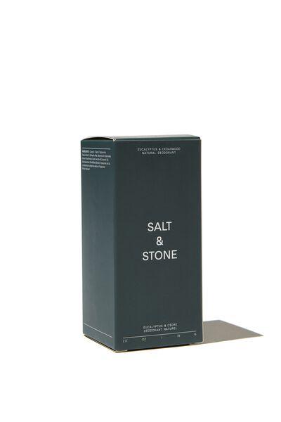 Salt & Stone Deodorant, EUCALPYTUS CEDARWOOD