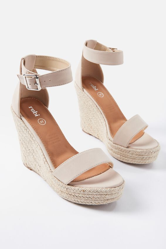 Greer Espadrille Wedge, STONE