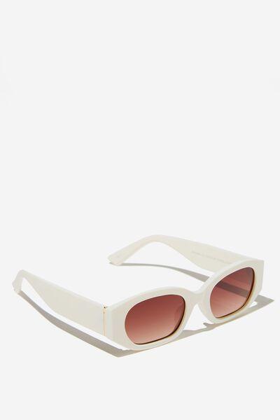 Annabelle Angular Sunglasses, BUTTER