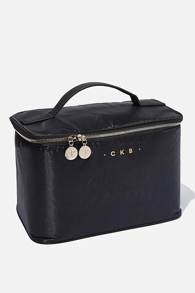 Personalised Professional Makeup Case, BLACK/GOLD