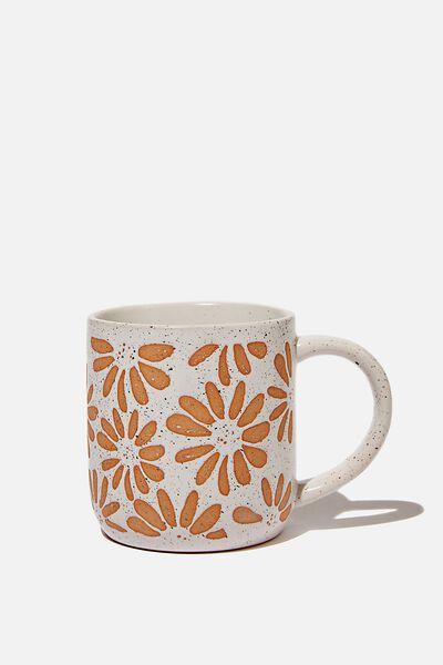 All Day Mug, WHITE DAISIES