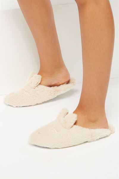Cute Novelty Slipper Scuff, BODY CREAM RABBIT