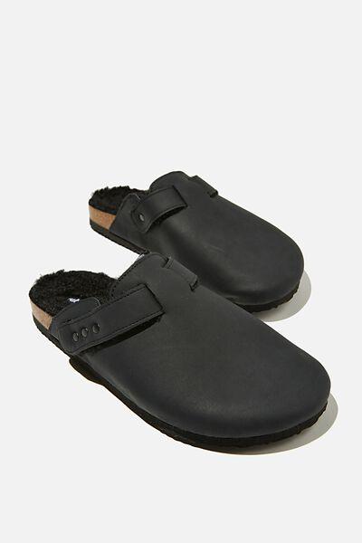 Rex Stud Closed Toe Mule, BLACK NUBUCK/BLACK