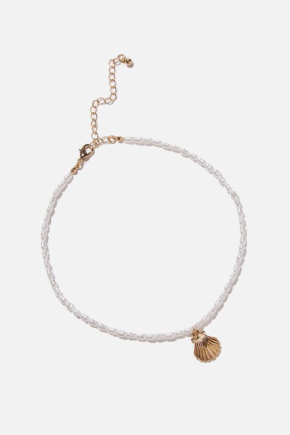 Holiday Souvenir Necklace, PEARL CLAM