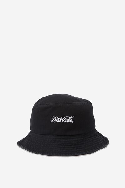 Bella Bucket Hat, BLACK DIET COKE LOGO