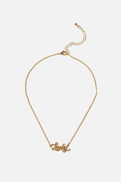 Brighter Days Pendant Necklace, LUCKY GOLD