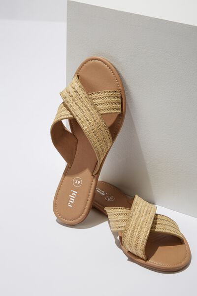 Everyday Scarlett Xover Slide, NATURAL WOVEN