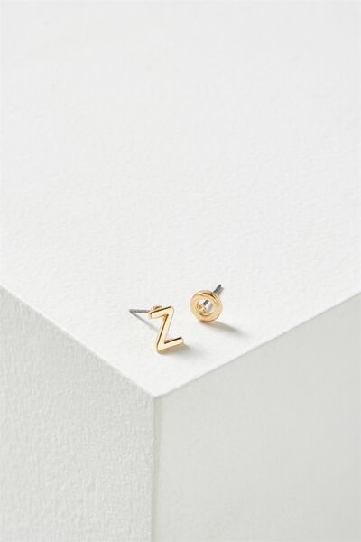 Alpha Stud Earring, GOLD - Z