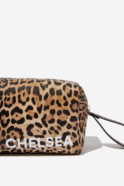 3ede705a7 Personalised Marlee Cosmetic Case, NATURAL LEOPARD