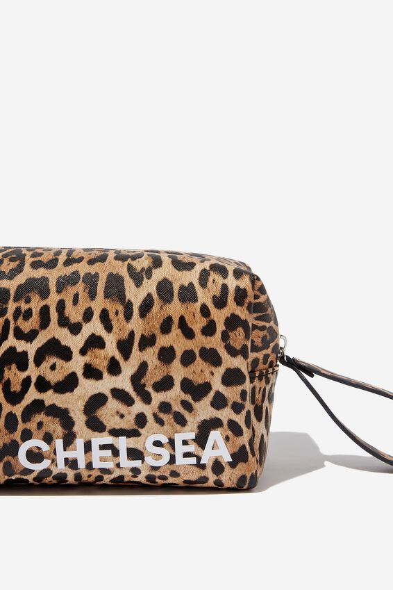 Personalised Marlee Cosmetic Case, NATURAL LEOPARD