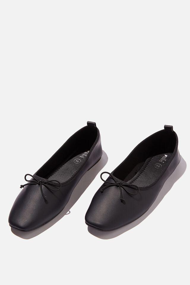 Essential Rylee Ballet, BLACK SOFT PU