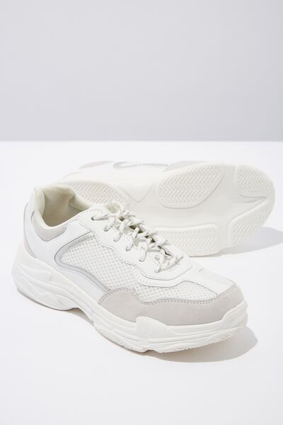 Body Erika Chunky Trainer, WHITE MESH