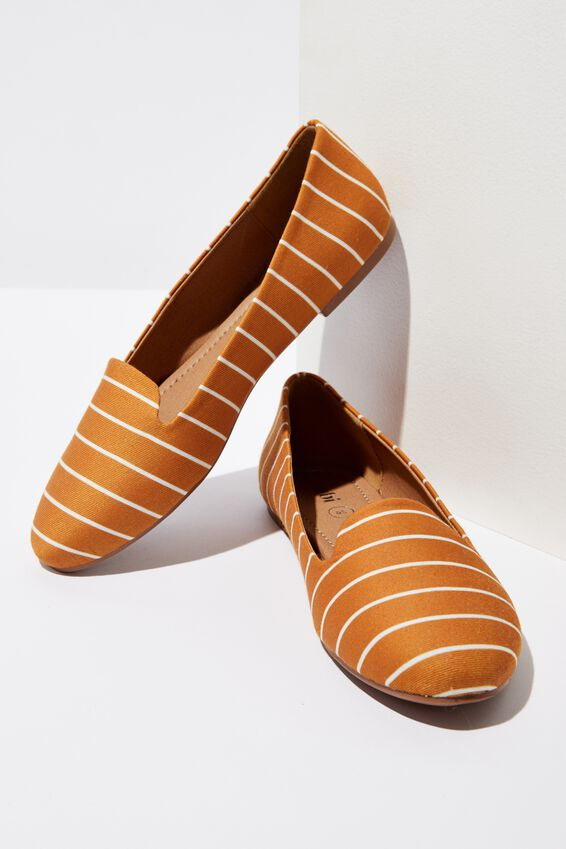 Sophia Slipper, MUSTARD STRIPE