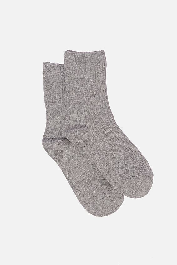 Sparkle Sock, GREY MARLE