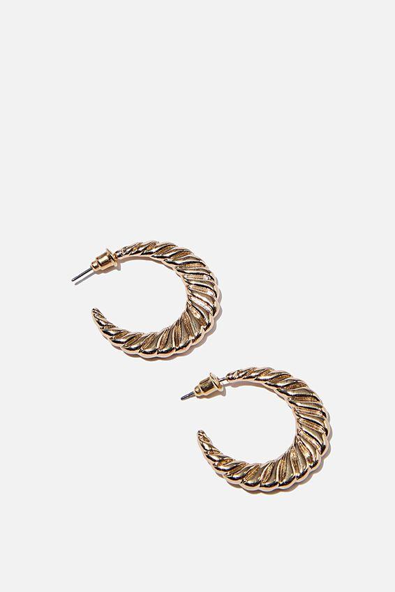 Luxe Layers Medium Mon Cherie Hoop, GOLD