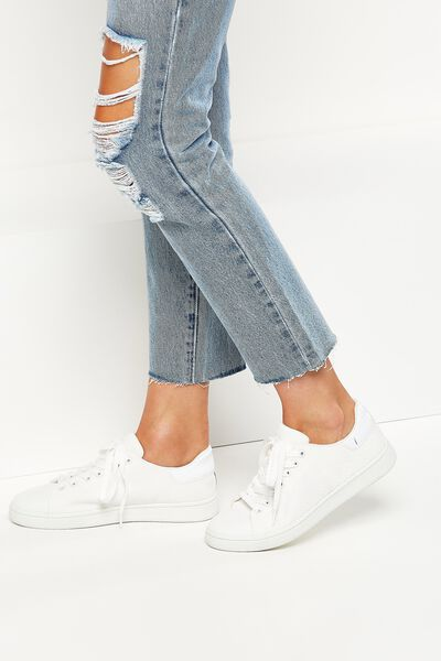 Cathryn Knit Sneaker, WHITE MESH