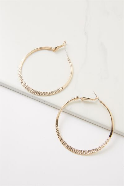 Nat Core Hoop Earring, GOLD