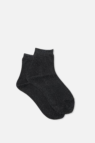 Dorothy Sparkle Sock, PASTEL RAINBOW SPARKLE