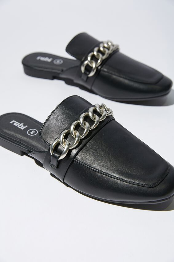 Carey Chain Mule, BLACK/SILVER