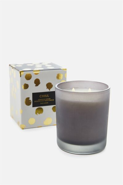 Large Box Candle, GREY/JONQUILLE NOIRE