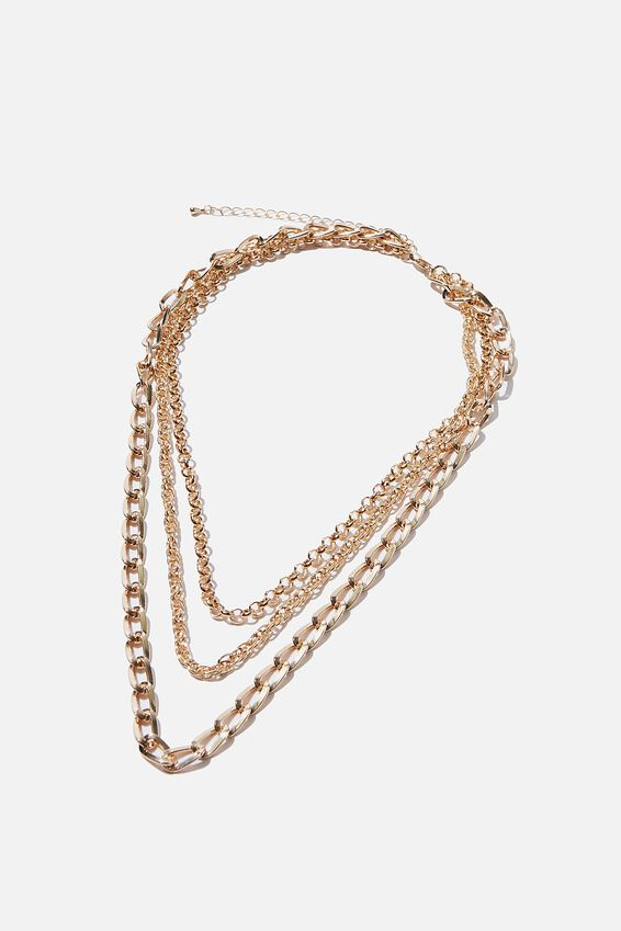 Luxe Layers Everywhere Necklace, GOLD