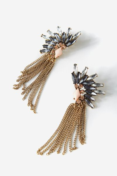 Moonlight Tassel Earring, BLUSH