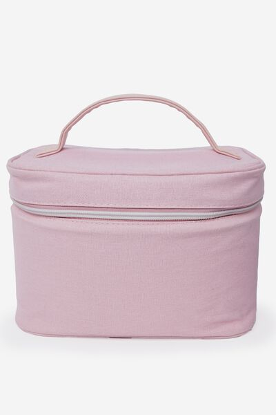 Large Structured Cosmetic Case, PARFAIT PINK