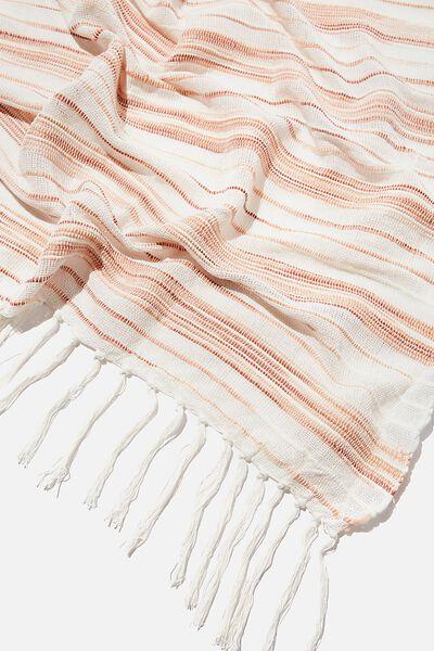 Yarn Dyed Throw, ROSE CLOUD
