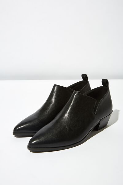 Leonard Low Cut Boot, BLACK SMOOTH
