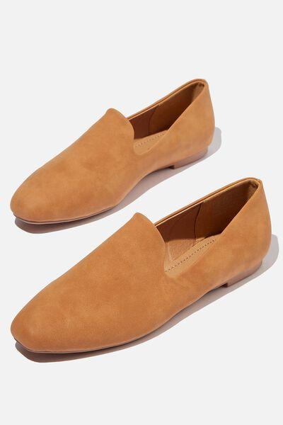 Essential Perri Square Toe Slipper, TAN NUBUCK