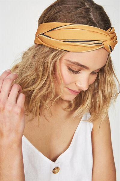 Manhattan Headband, MUSTARD/NAVY STRIPE