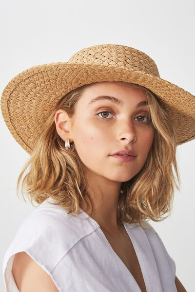 Wide Brim Boater, NATURAL