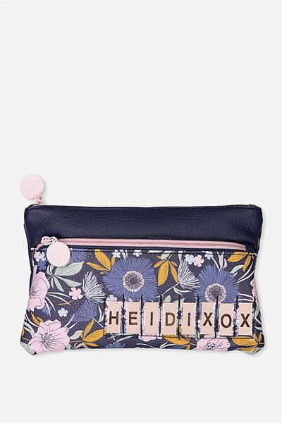 Personalised Dual Zip Cosmetic Case, WILD FLORAL