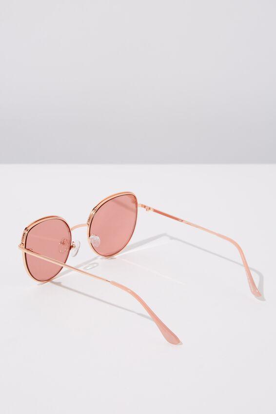 Jazz Top Arch Sunglasses, ROSE GOLD BLUSH
