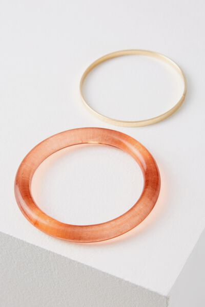 Whitehaven Bangle Set, TINTED RUST/GOLD