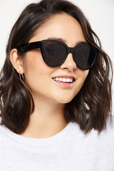 Clem Top Bar Sunglasses, S.BLACK
