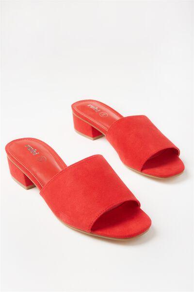 Dublin Low Mule Heel, RED MICRO